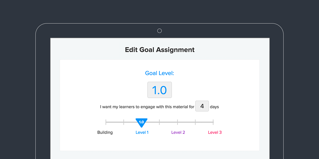 goal setting on Cerego
