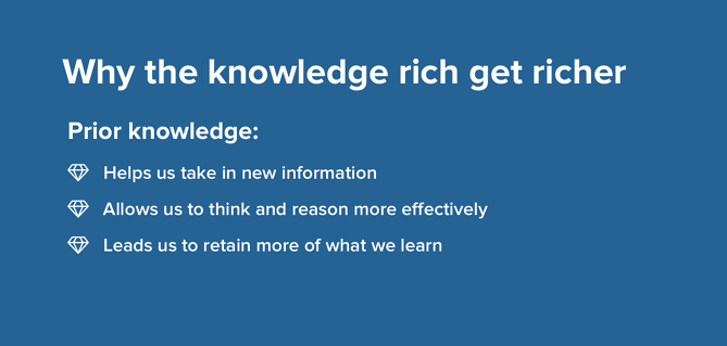Why the knowledge rich get richer