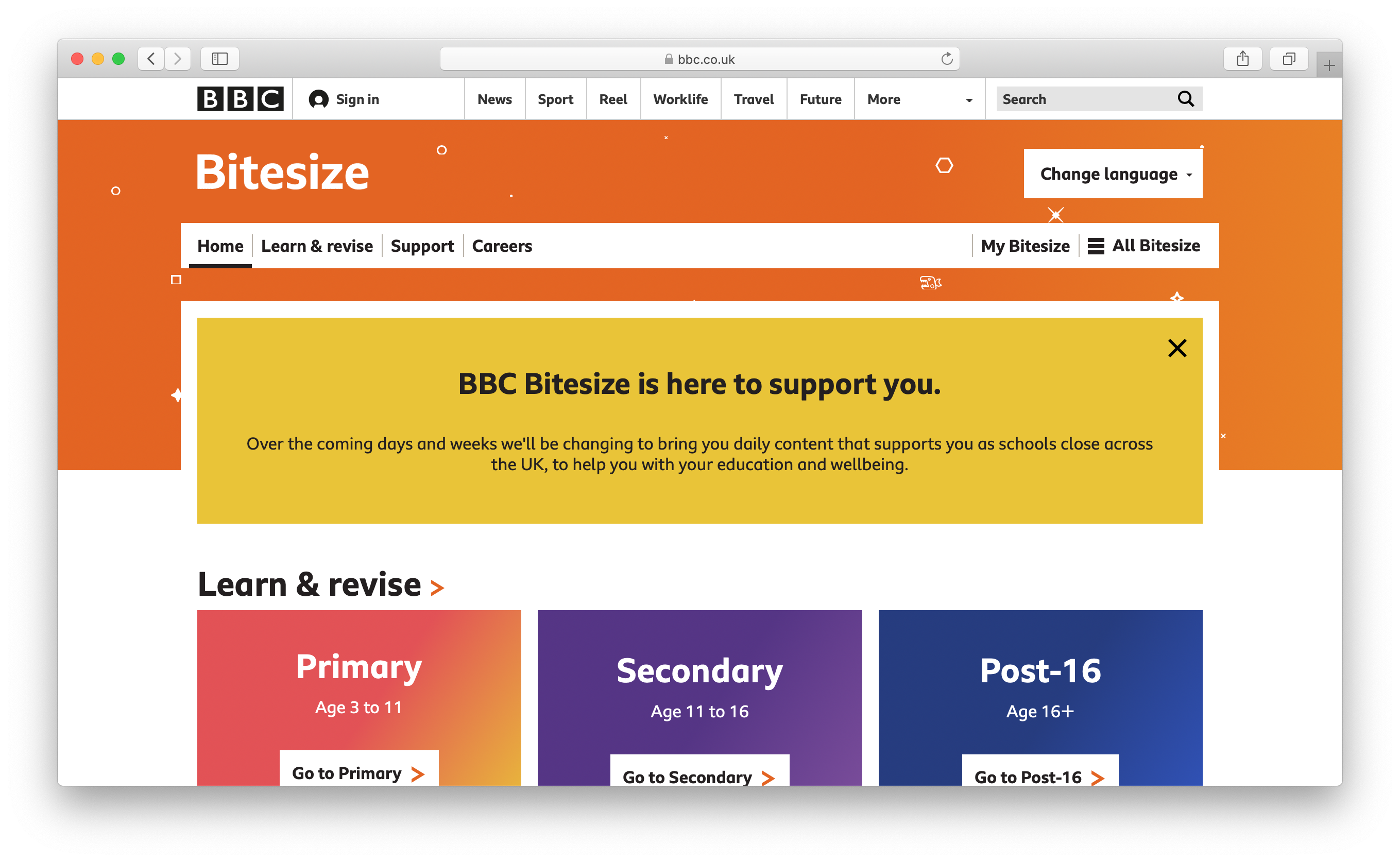 BBC Bitesize website