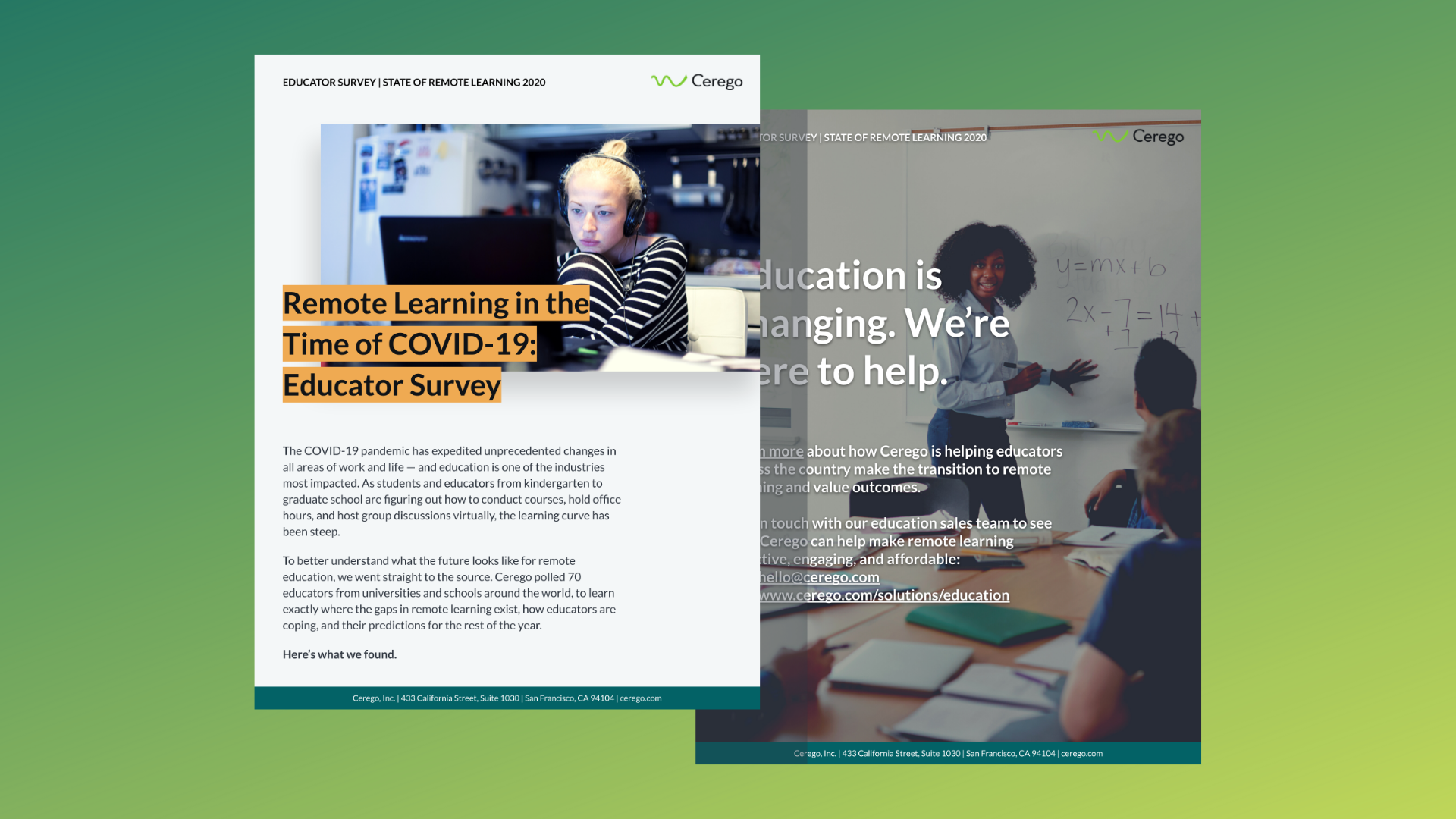 Remote learning report